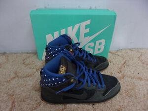 42f014d74c4c NIKE Dunk High Premium SB Black + White Stars on Blue Shoes w Box ...