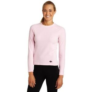 Hot-Chillys-Women-039-s-La-Montana-Panel-Crewneck-Pink-SM-or-LG-New