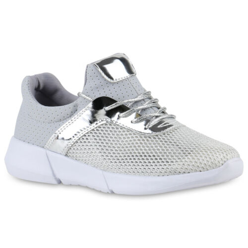Damen Sportschuhe Laufschuhe Runners Lack Glitzer Freizeitschuhe 817591 Schuhe