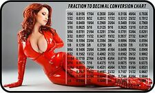 SEXY GIRL FRACTION TO DECIMAL CONV. REFRIGERATOR FRIDGE MAGNET SNAP ON TOOLBOX