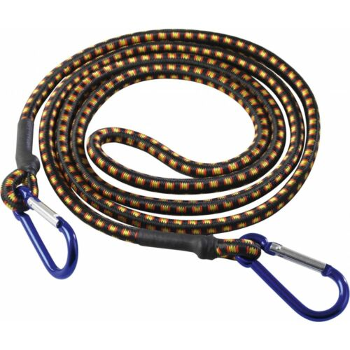 "48/"" Bungee Cord With Aluminium Hooks Supatool Hook 8mm Secure Luggage Loads"