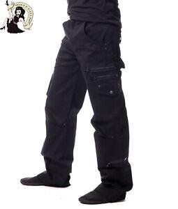Vixxsin Men/'s Andre Pants Straight Fit Alternative Carpenter Goth Black Trousers