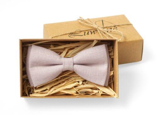 Dusty rose bow tie for wedding dusty rose linen tie boys bowtie groomsmen tie