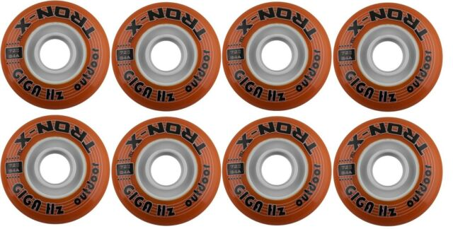 Tron Mega Hz Outdoor Inline Hockey Wheels 80mm//82A 8-Pack With ABEC 9 Bearings