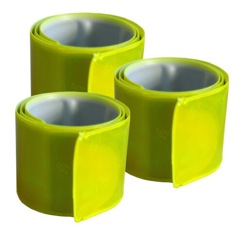 clic banda 3 x reflector banda snap 3 x 30 CM banda de seguridad warnband