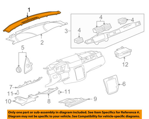 Chevrolet GM OEM 06-13 Impala Instrument Panel Dash-Upper Trim Panel 22761772