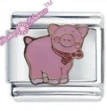 JSC DAISY CHARM Italian Charm  - PINK PIG - Piggy