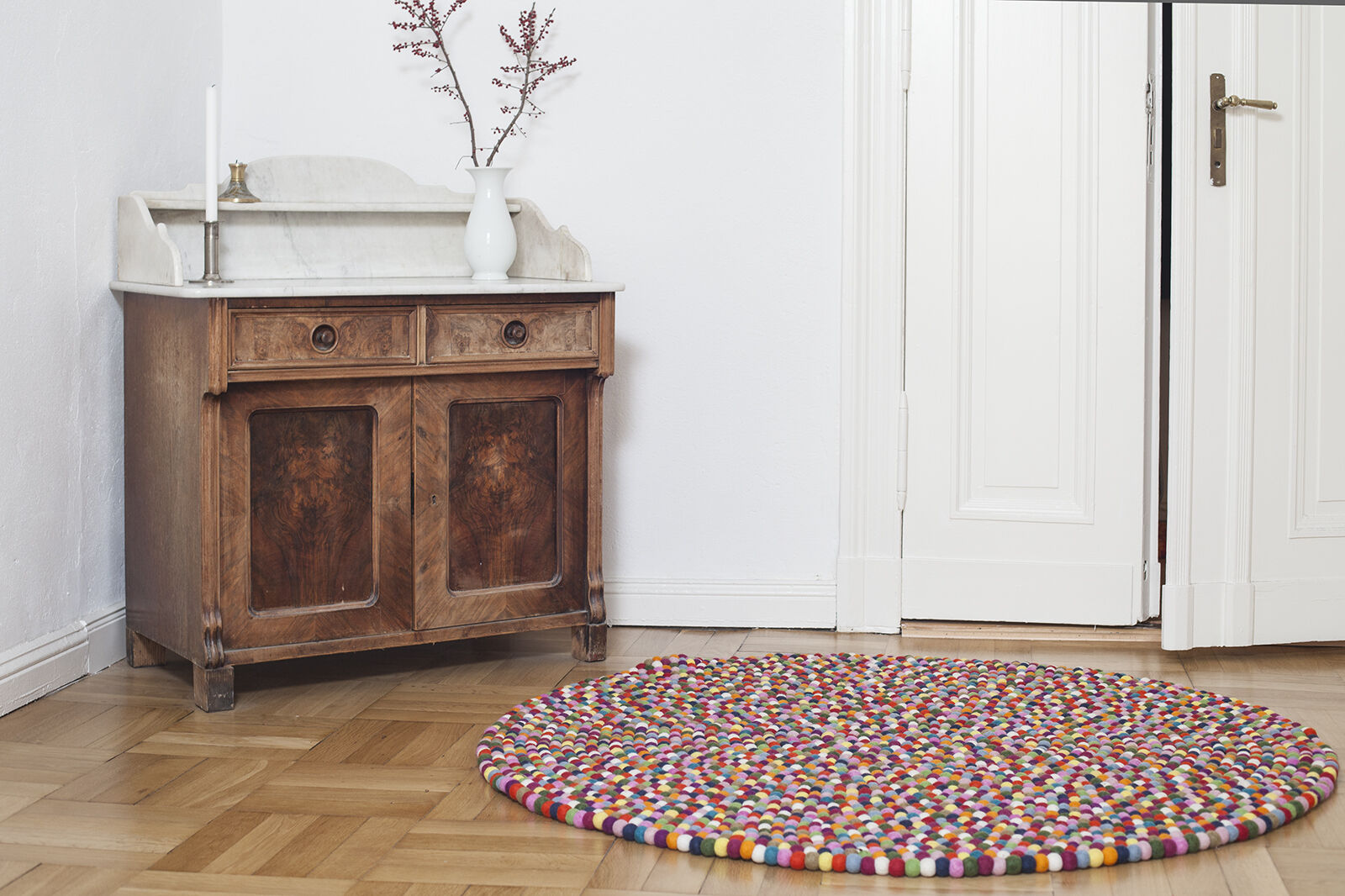 Myfelt Lotte 120 cm design tapis 100% laine Filzkugelteppich enfants-tapis enfants-tapis enfants-tapis | De Haute Sécurité  286dfa
