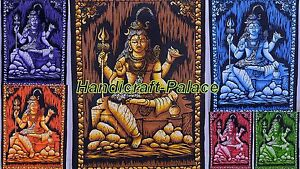 50 Pc Lot Lord Shiva Indian Wall Hanging Cotton Tapestry Wall Decor Poster Deco Ebay