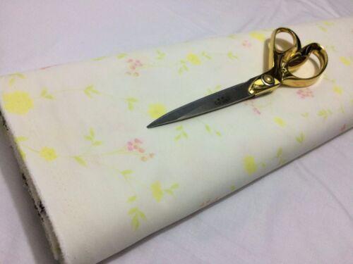 Qualité Supérieure en coton blanc été imprimé floral à sens unique stretch * Neuf Gratuit P /& p *