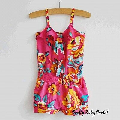 NEW GIRLS Baby Toddler's  Clothes Floral Spaghetti Strap Jumpsuit One Piece
