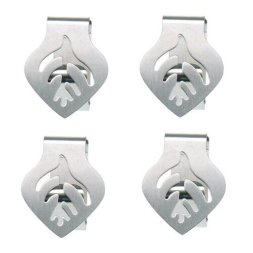 Tablecloth Clips Holder Leaf Design Stainless Steel Clamps DIY Wedding Banquet