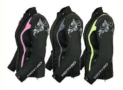 Ladies Womens Motorcycle Motorbike Waterproof Cordura Jacket Coat collection
