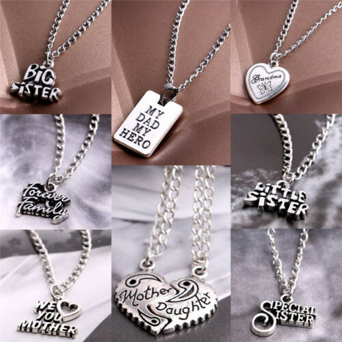 Sale Sister Mother Daughter Dad Grandma Family Pendant Necklace Jewelry Best SP