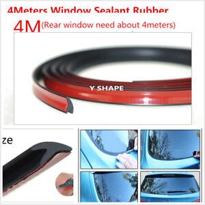 4M-V-shape-Weatherstrip-Truck-Car-Motor-Door-Window-Rubber-Hollow-Seal-Strip