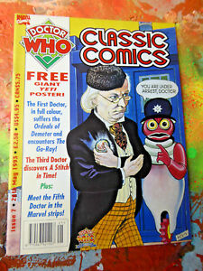Doctor-Who-Classic-Comics-Issue-7-1993-GIANT-Yeti-POSTER-INCLUDED-tv-show
