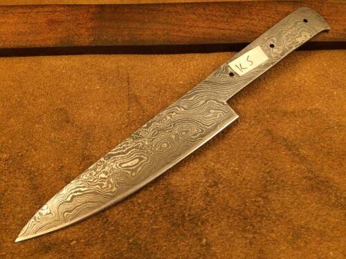 Handmade Pattern Welded Damascus Steel Chef-Kitchen Blank Blade-Full Tang-K5