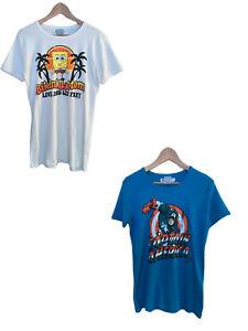 Details about Mens CAPTAIN AMERICA OR SPONGEBOB SQUAREPANTS TEE Thick Cotton T Shirt Small Fit