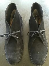 Clarks Desert Boot Men's Black Suede Casual Dress Lace Up Chukkas Shoes Size 10