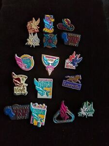 Lot-of-15-Kentucky-Derby-Vintage-Pins-Festival-State-Fair