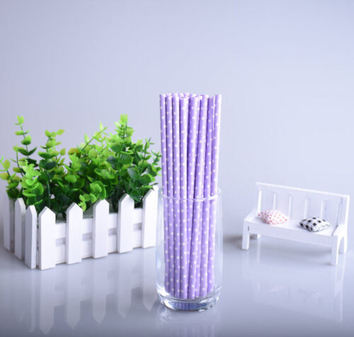 Hot 25X Mixed Drinks Paper Straws It/'s A Boy Girl Birthday Party Supplies Decor