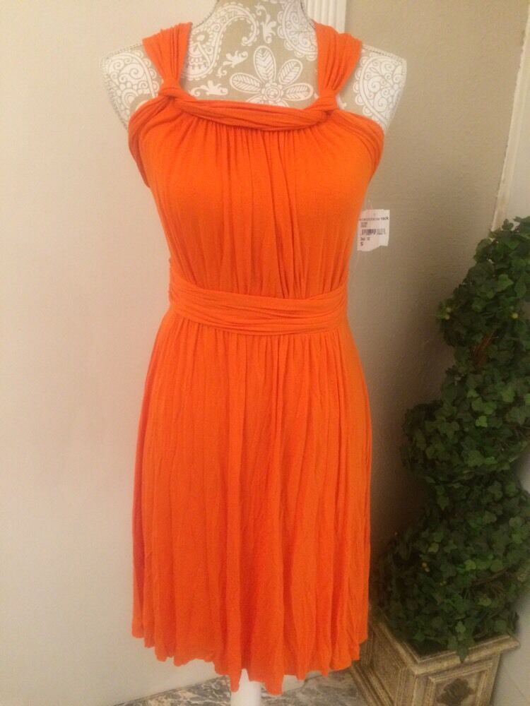 Bailey 44 'Durban' Cutout Back Jersey Dress Orange SZ S Small