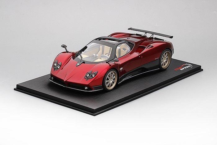 Top Speed PAGANI ZONDA rouge Dubai Rouge Blk 1 18 TS0098 Nouveau  Dernier