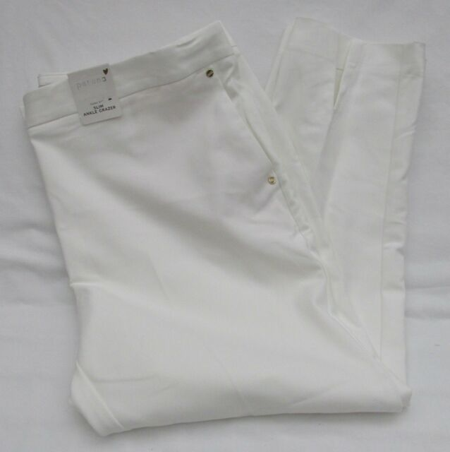 RRP £39 LADIES M/&S PER UNA SIZE 20 SUPIMA COTTON SLIM ANKLE GRAZER TROUSERS