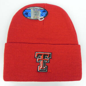 TEXAS-TECH-RED-RAIDERS-RED-NCAA-BEANIE-TOP-OF-THE-WORLD-KNIT-CAP-HAT-NWT