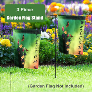 3-Pcs-Wrought-Iron-Mini-Garden-Flags-Pole-Stand-Holder-Yard-Garden-Decor-Display