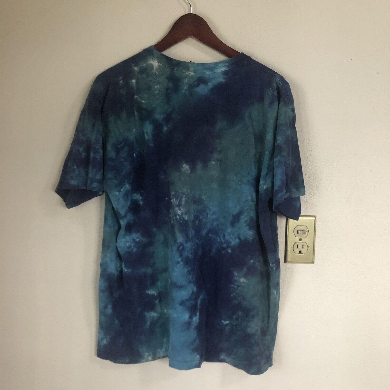 Vintage Pink Floyd Liquid Blue Tie Dye Y2K Blue C… - image 2