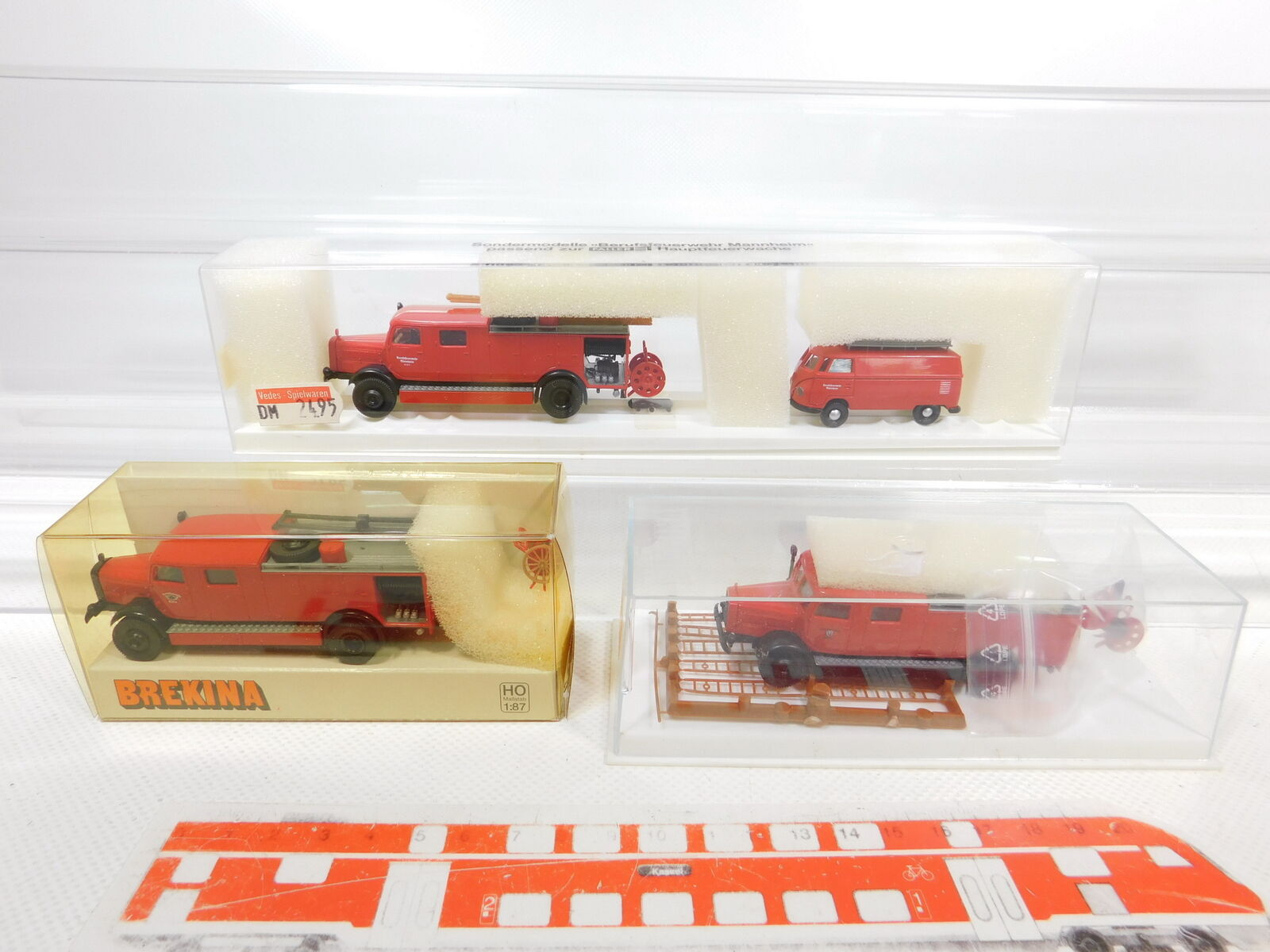 vendite online Ca336-0, 5  3x Brekina 1 1 1 87 h0 FW-modellololo MB VW  44252 Colonia + 4428 + 9010, P. G + OVP  miglior reputazione