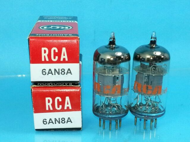 RCA 6AN8 A VACUUM TUBE MATCHED PAIR LITTLE DOT SUPER SWEET TONE