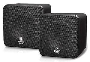 PYLE-HOME-PCB4BK-PYLE-HOME-4-034-200-Watt-Mini-Cube-Bookshelf-Speakers-Black