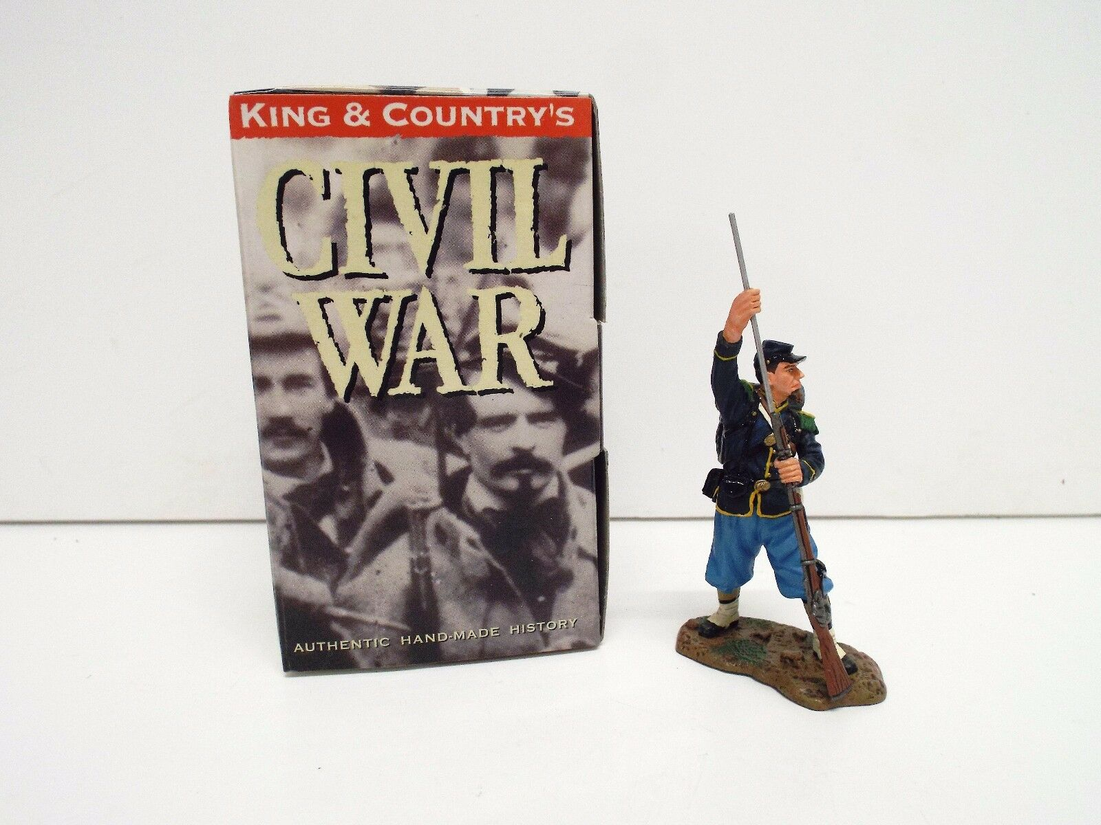 KING AND COUNTRY CW34 ACW UNION STANDING RAMROD RETIRED BOXED (BS2121)