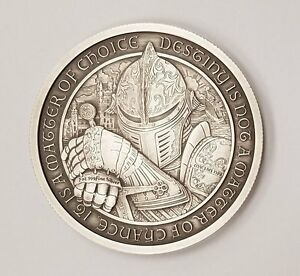 Limited 2 Oz Antique Destiny Coin Series Knights Templar