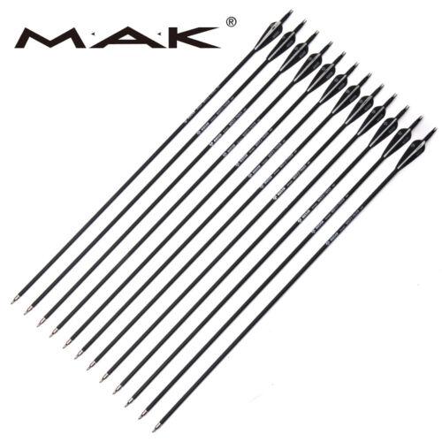 12pcs 7.8mm Carbon Arrows Archery SP500 Fit for Compound bow Changeable Tpis