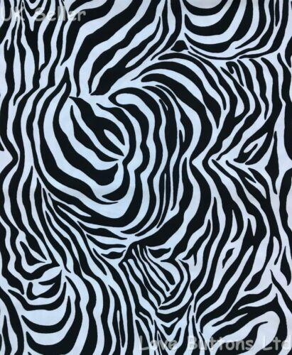 Rose /& Hubble 100/% cotton black and white zebra fabric per metre /& fat quarters