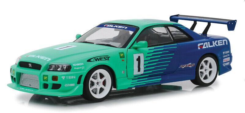 Greenlight 1 18 1999 Nissan Skyline GT-R R34 Falken Tires Tires Tires 19050 Diecast Car 6782a0