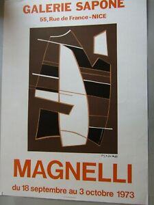 Affiche de l'exposition Magnelli Galerie Sapone à Nice 1973