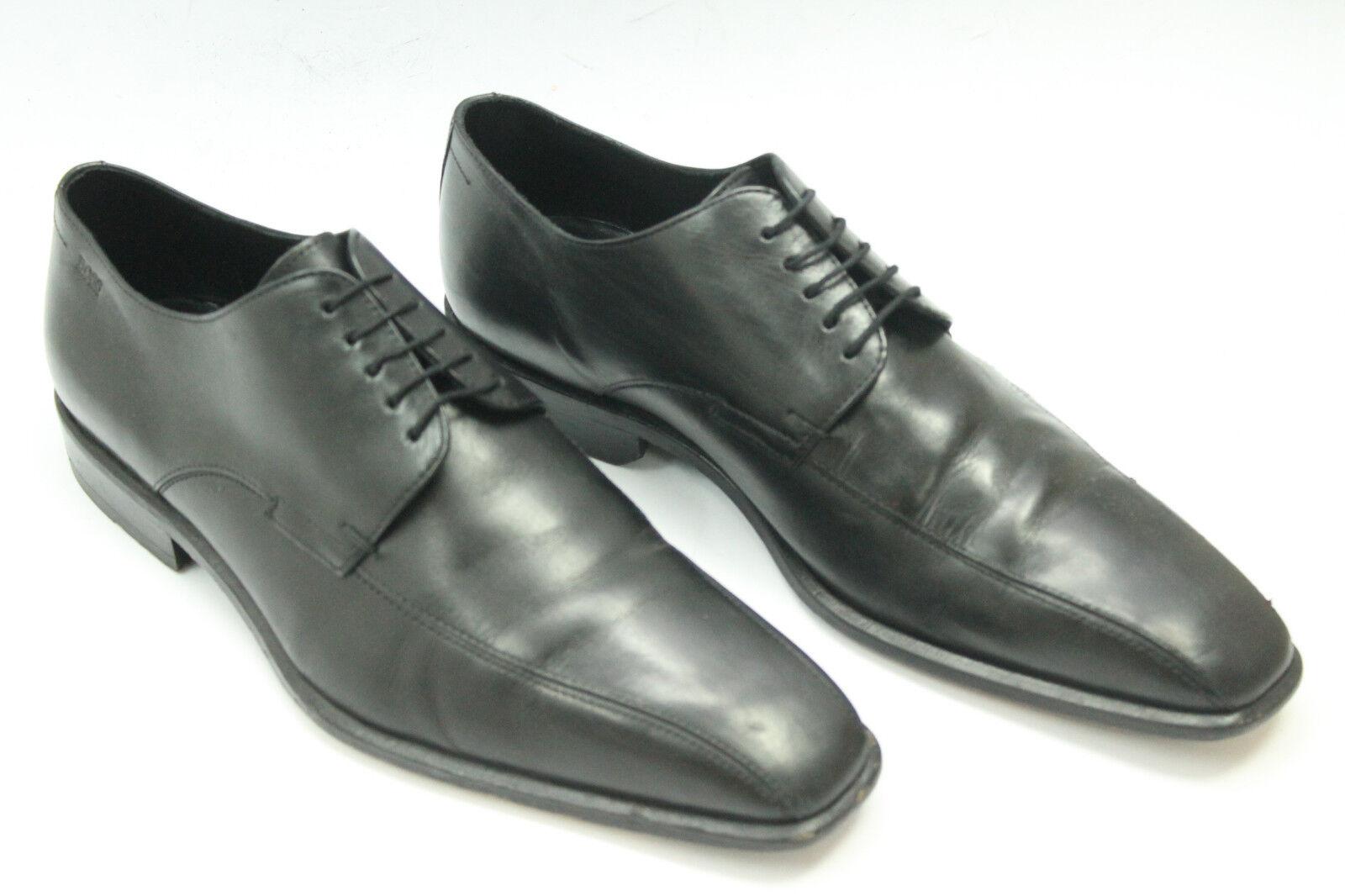 BOSS Chaussures sz.8 Europe .41 en cuir noir S6144