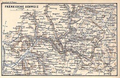 Fränkische Schweiz Karte.Fränkische Schweiz Forchheim Pegnitz Reut Um 1900 Historische Alte Landkarte Map Ebay
