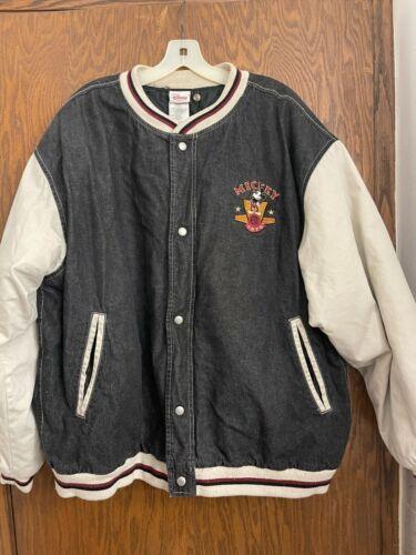 Disney's Men's Varsity Style Denim Jacket XL. Mick