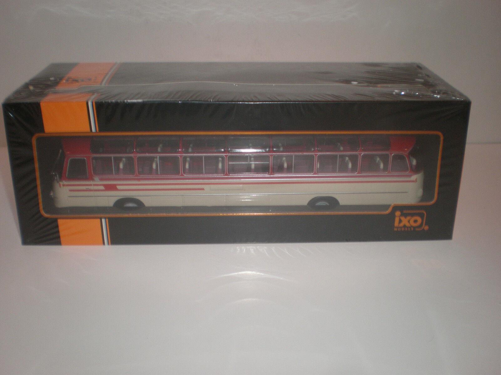 1 43   Bus Setra S14 Beige red 1960's   Ixo Models Bus 009