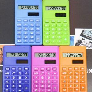 Taschenrechner-Buerorechner-8-Stellige-Solar-Batterie-Tasche-Rechner-amp-Neu-F-W7V7