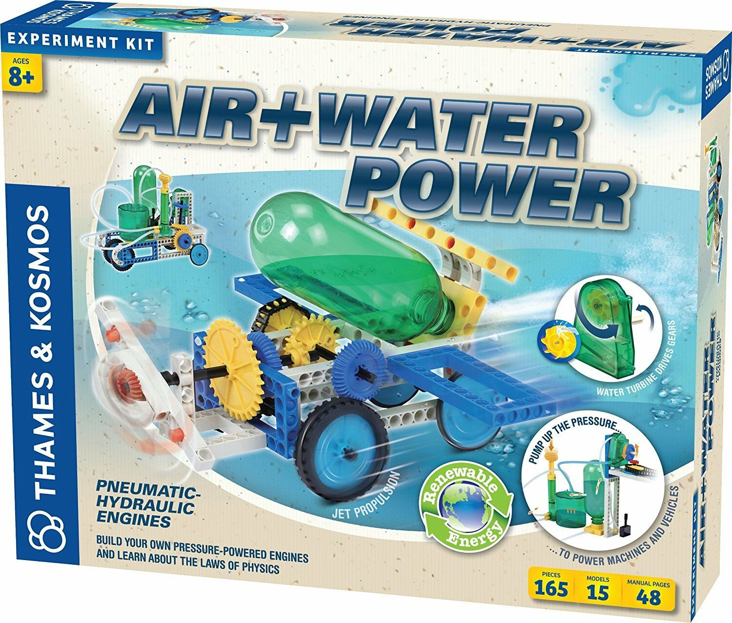 Thames & Kosmos Construction Series Air and Water Power Kit. Shipping is Free