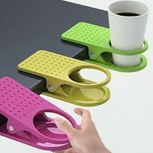 New Home Office supplies Drink Cup Coffee Mug Desk Lap Folder Table Holder Clip