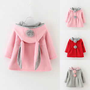 Kids-Toddler-Baby-Infant-Girls-Coat-Jacket-Rabbit-Ear-Hooded-Outerwear-Clothes