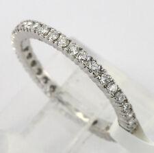 Platinum diamond eternity band wedding ring 37 round brilliants .54CT size 7 new