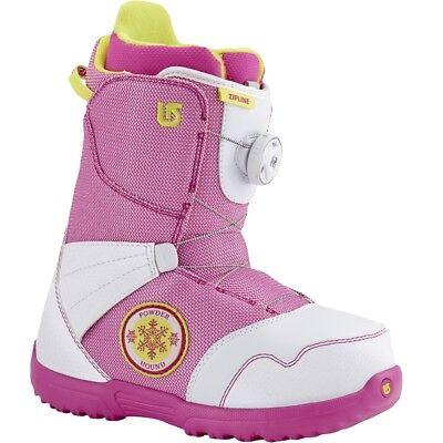 2016 Burton Zipline BOA White/Pink Size 5K Junior Snowboard Boots